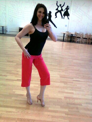 Tammy in the Dance Mirror