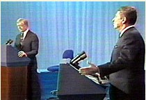 Photo From the 1980 Carter / Reagan Presidential Debate