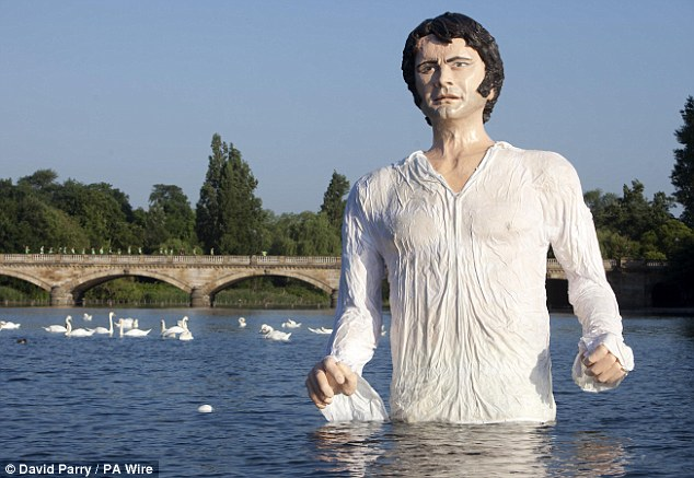 Mr. Darcy Lake Statue