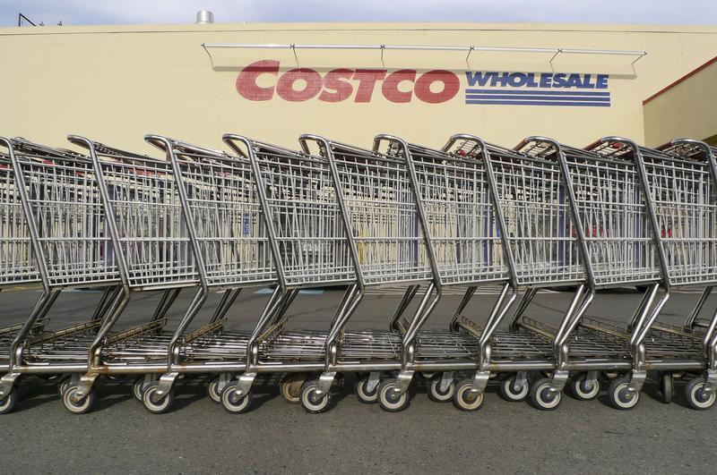 Shopping carts at Costco