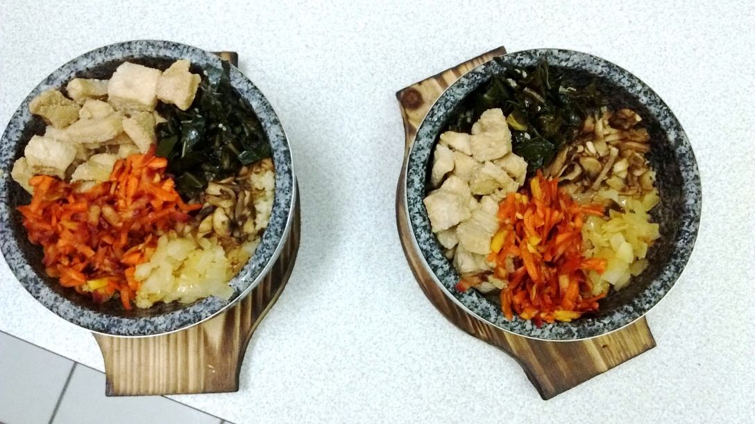 Bibimbap dishes