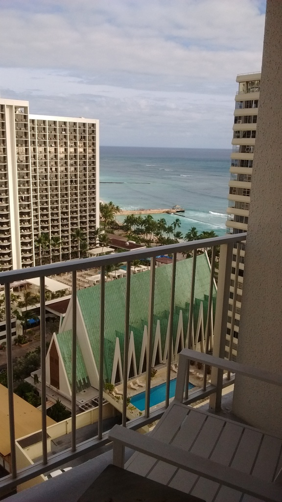 View of Waikiki from hotel room