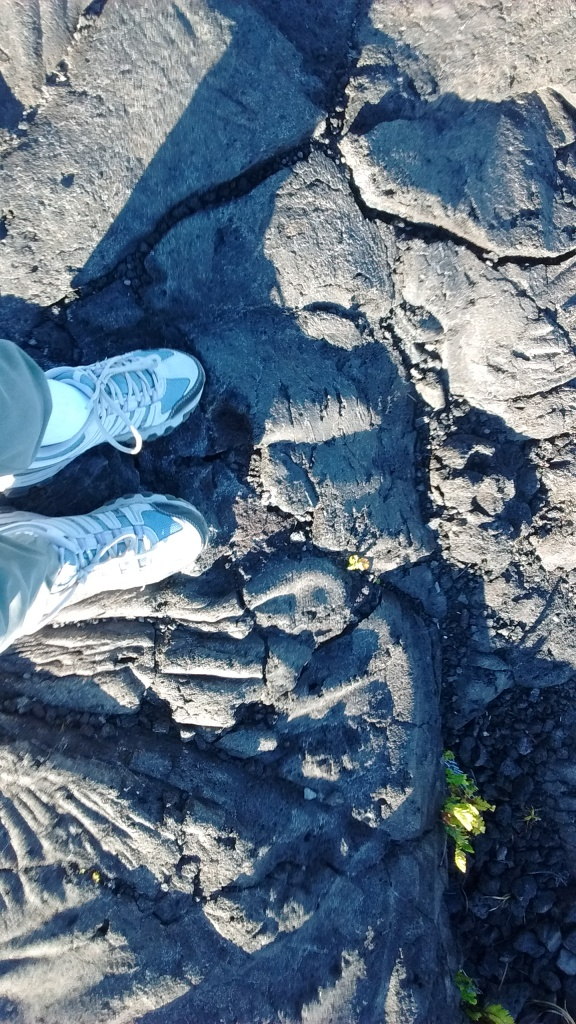 standing on lava